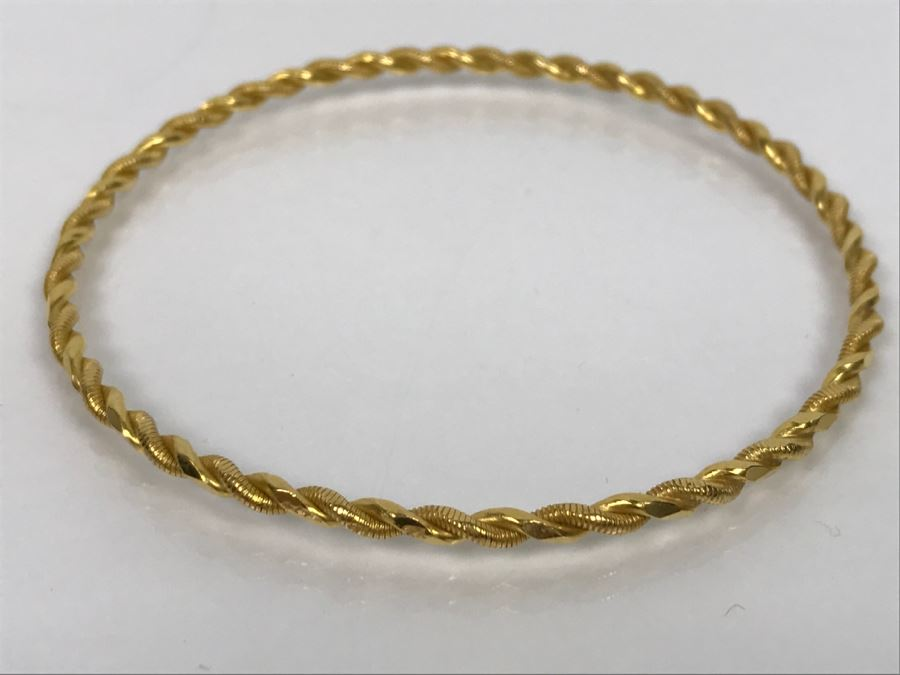 thin tone bracelet bangle bangles tradesy gold twisted fossil crystals i