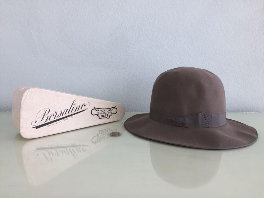 Vintage Borsalino Grand Prix Paris 1900 Antica Casa Fondata Nel 1857 Hat With Original Box [Photo 1]