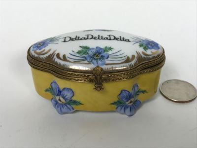 Limoges France Delta Delta Delta Ronda Roush Studios Tulsa, OK Trinket Box
