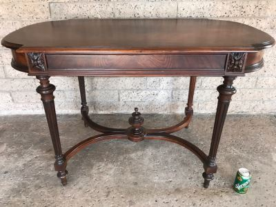 Vintage Wooden Table With Drawer 45'W X 26'D X 29'H