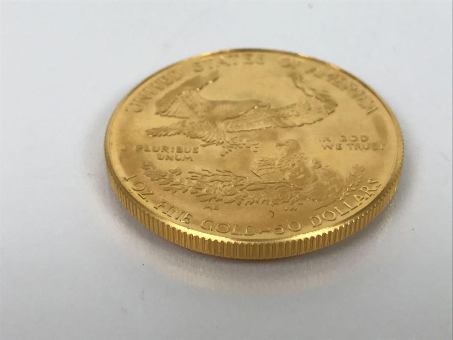 1986 1oz Fine Gold American Eagle 50 Coin Uncirculated
