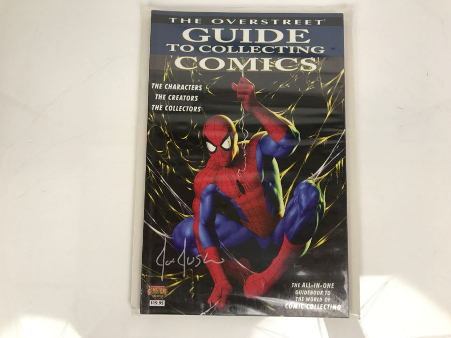 Signed Joe Jusko Cover Of The Overstreet Guide To Collecting Comics Gemstone Publishing [Photo 1]
