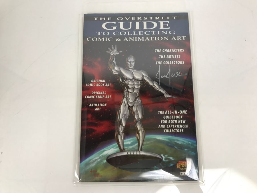 Signed Joe Jusko Cover Of The Overstreet Guide To Collecting Comic & Animation Art Gemstone Publishing [Photo 1]