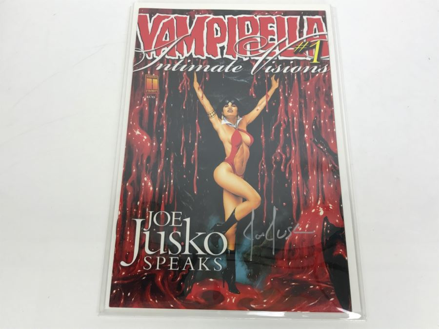 Signed Joe Jusko Cover Vampirella Intimate Visions #1 Joe Jusko Speaks [Photo 1]