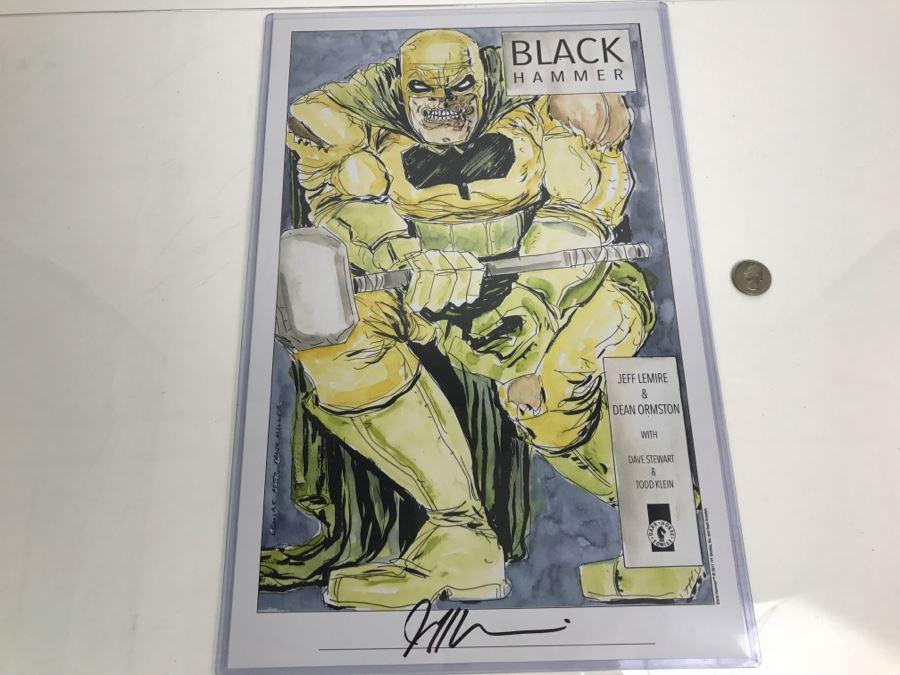 Signed Jeff Lemire Black Hammer Print Dark Horse Comics
