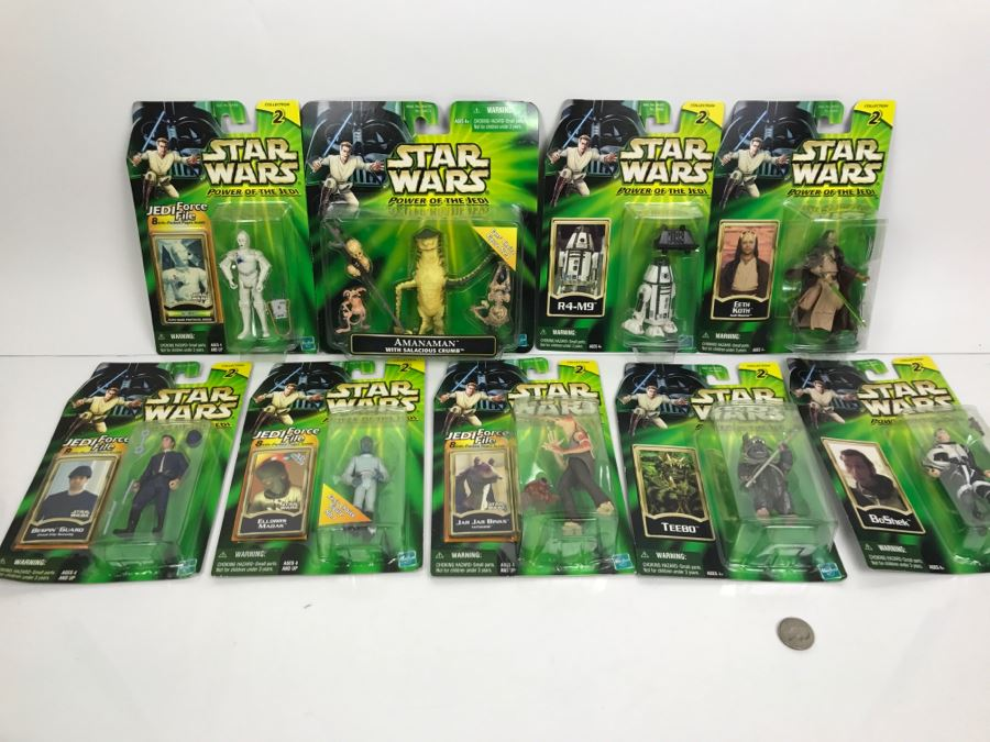 Collection Of Star Wars Action Figure Toys Blister Packs
