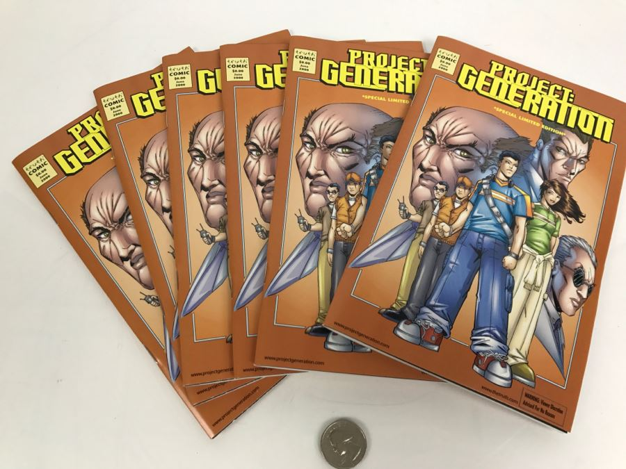 (6) Copies Of Project Generation Special Limited Edition Comic Books From Truth Comic 2000