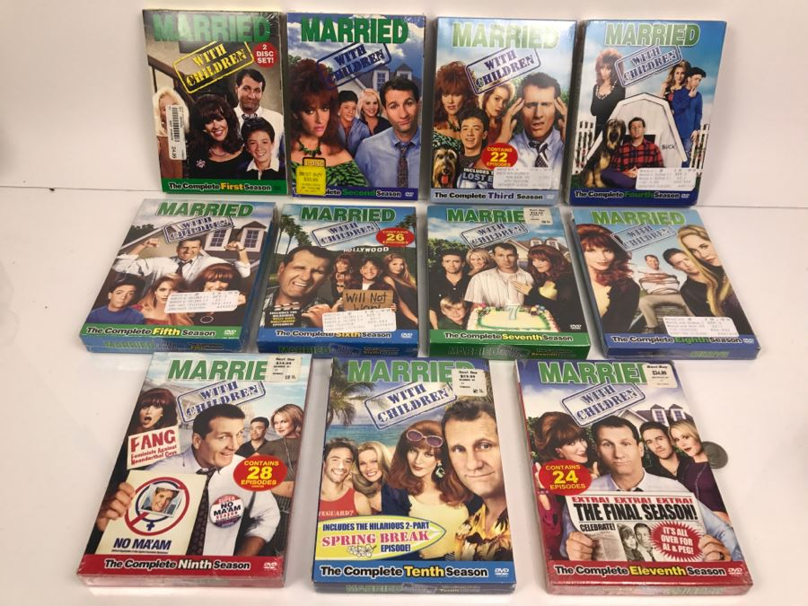 Sealed Copies Of All 11 Seasons Of Married With Children On DVDs [Photo 1]