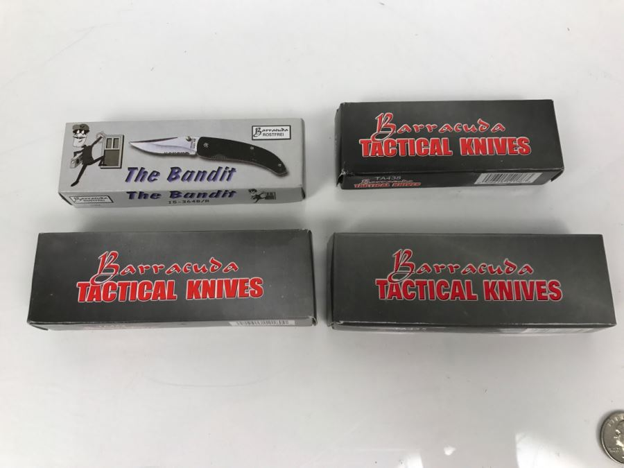 Set Of (4) New Old Stock Pocket Knives