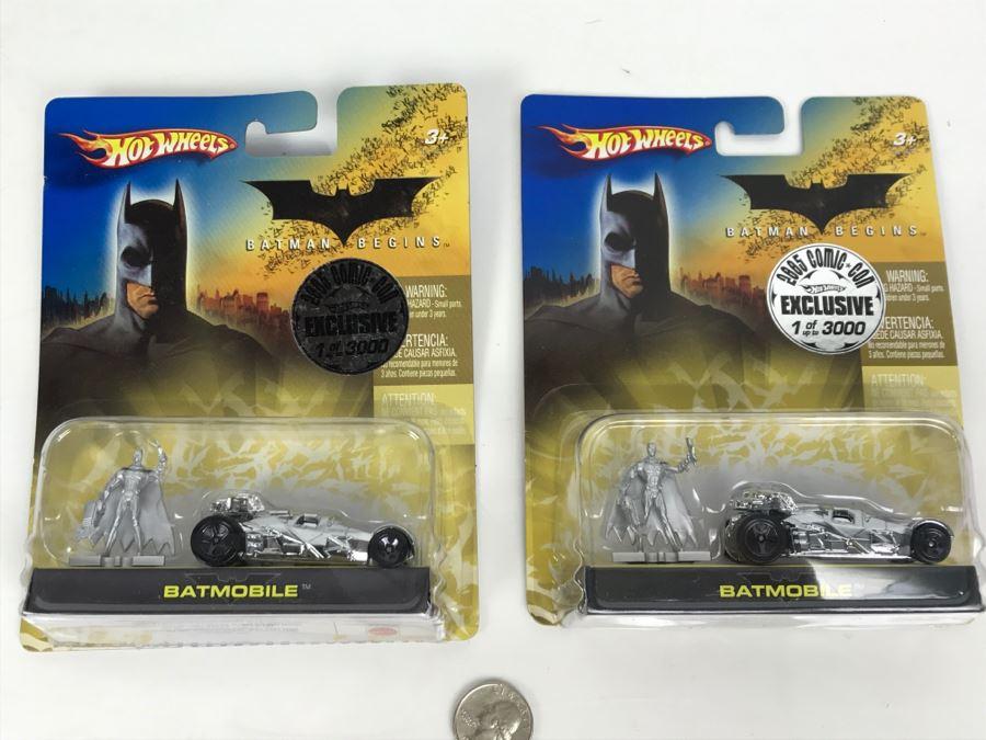 Pair Of 2005 Exclusive Limited Edition Of 3000 Hot Wheels Batman Begins Batmobile Cars Mattel 2005