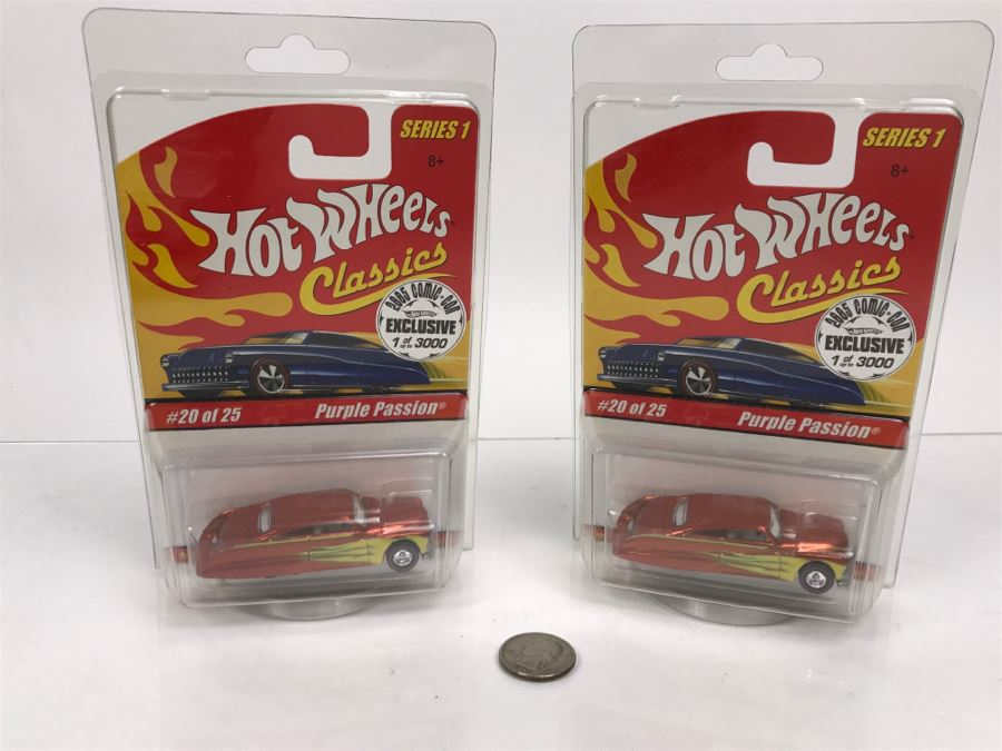 Pair Of 2005 Exclusive Limited Edition Of 3000 Hot Wheels Classics 20 Of 25 Purple Passion Sealed Mattel 2004