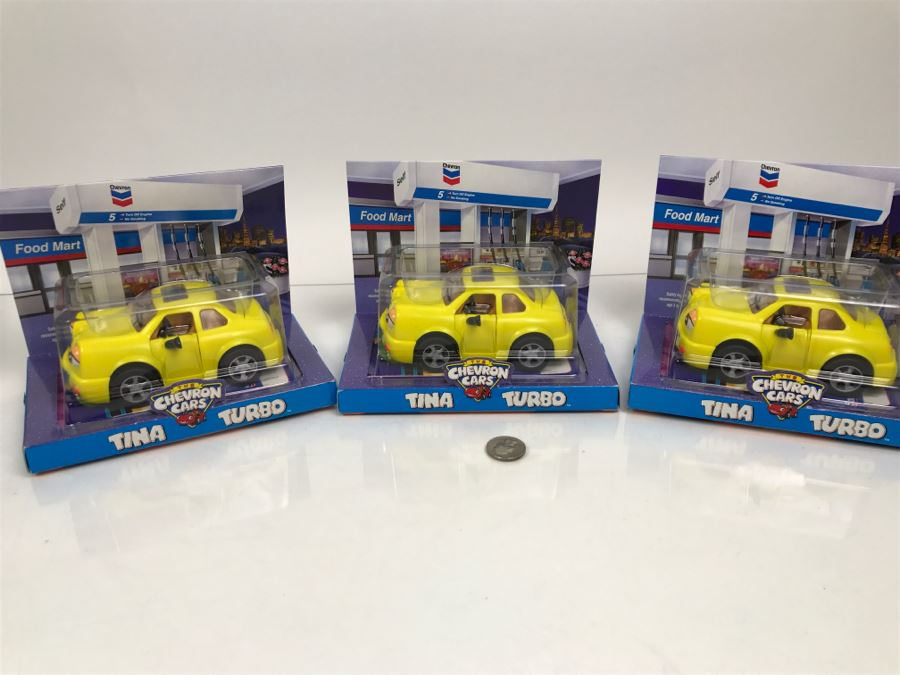Set Of (4) New Old Stock Chevron Cars Tina Turbo 1998