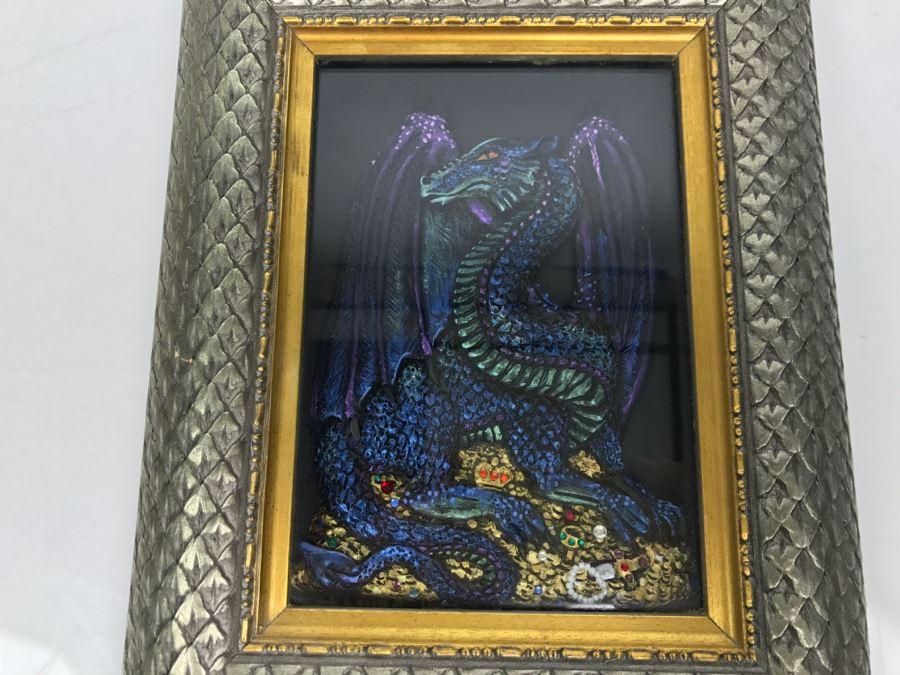 Original Comic Con Art Show Artwork By Theresa Mather Dragon Guarding Jewels 1996