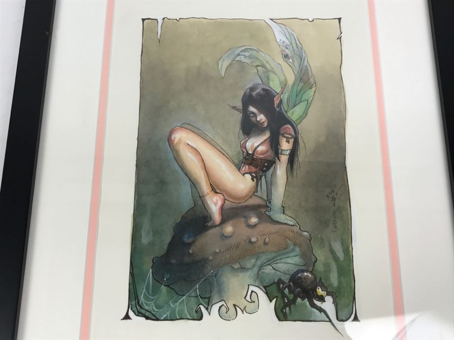 Original Artwork Of Fairy By Ronny Vardy 2003
