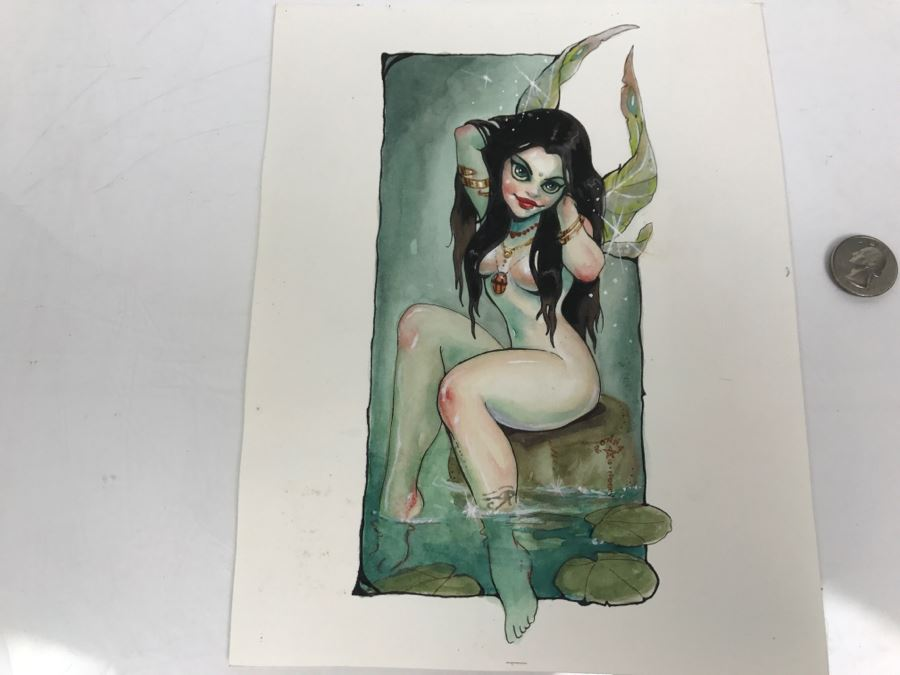 Original Artwork Of Fairy By Ronny Vardy 2002