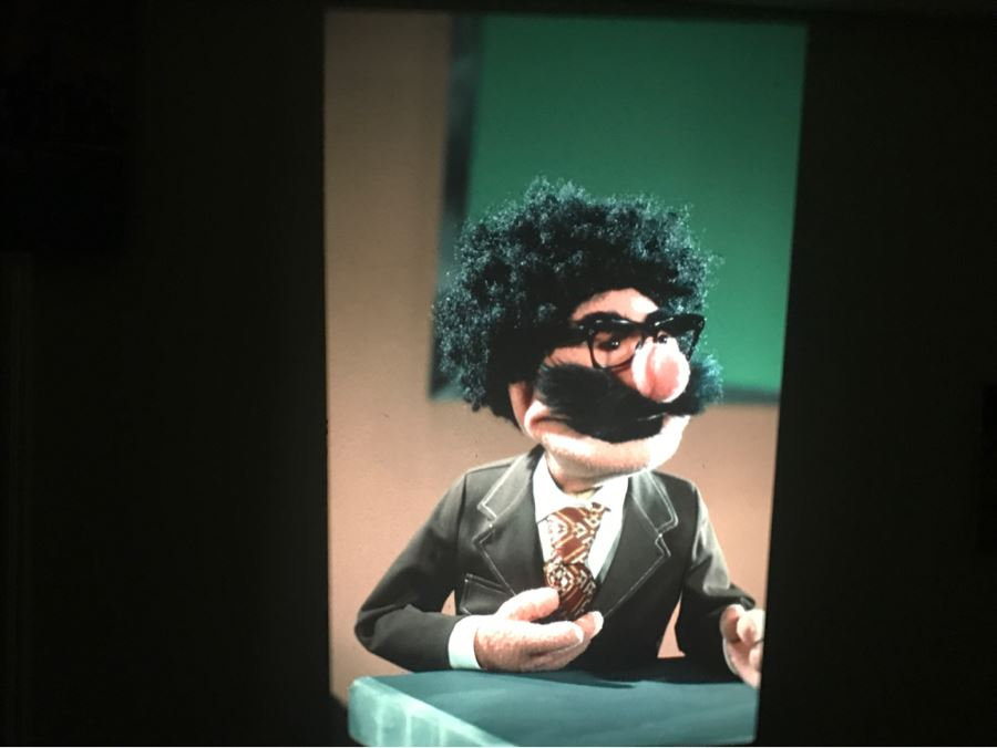 Original Early Slide From Jim Henson's Muppet Show Pilot Titled 'The Muppet Show: Sex And Violence' 1975 By Photographer Charles Rowan