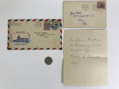 Vintage 1933 Personalized Handwritten Letter And Signature From Edith K. Roosevelt, Former First Lady of the United States Wife Of President Theodore Roosevelt