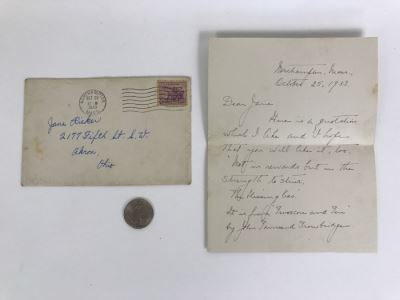 Vintage 1933 Personal Handwritten Letter Signed By Grace Coolidge, Former First Lady of the United States Wife Of Calvin Coolidge