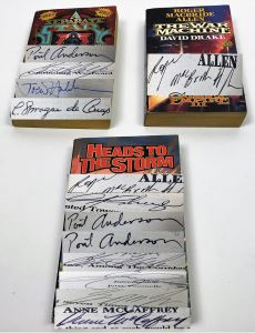David Drake w/ Sandra Miesel Collection: The War Machine, A Separate Star & Heads to the Storm (Tributes to Rudyard Kipling) - Multiple Signatures; George R.R. Martin, Poul Anderson, Gene Wolfe, Joe Haldeman, L. Sprague de Camp, Roger MacBride Allen, etc.