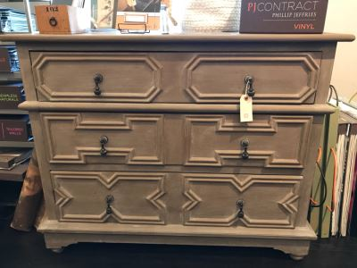 Painted 3-Drawer Chest Of Drawers Dresser 40'W X 22'D X 32'H