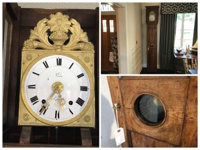 Antique French Grandfather Clock 14.5'W x 12'D x 95.5'H