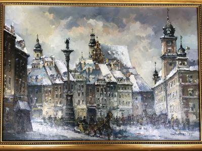 Original Impressionist Oil Painting By Warsaw, Poland Artist Piotr Rembielinski