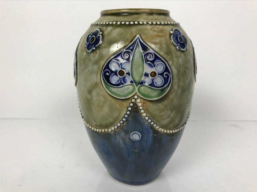Antique Royal Doulton England Vase Stoneware 8218 7h