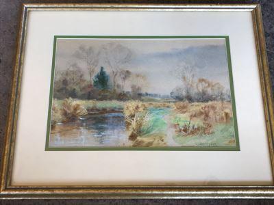 Original Watercolor Plein Air Painting By William Merrit Post (1865-1935)