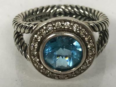 David Yurman Sterling Silver Ring Size 6.5 6.6g