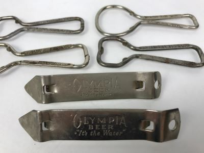 (6) Collection Of Vintage Beer Advertising Church Key Bottle Cap Openers