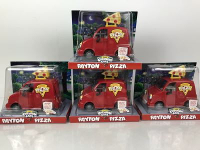 (4) The Chevron Cars Payton Pizza New Old Stock