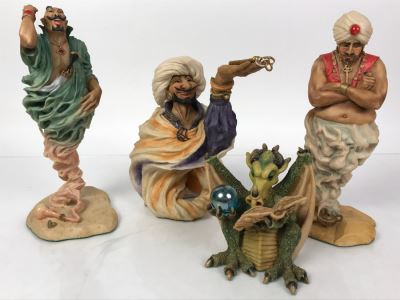 Collection Of (4) Lilliput Lane Land Of Legend Figurines