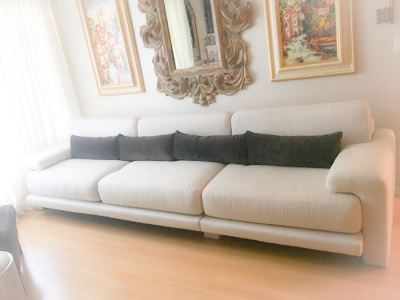 "Two-Piece Modern Sofa By Preview Furniture Corporation 10.5' L X 40""D"