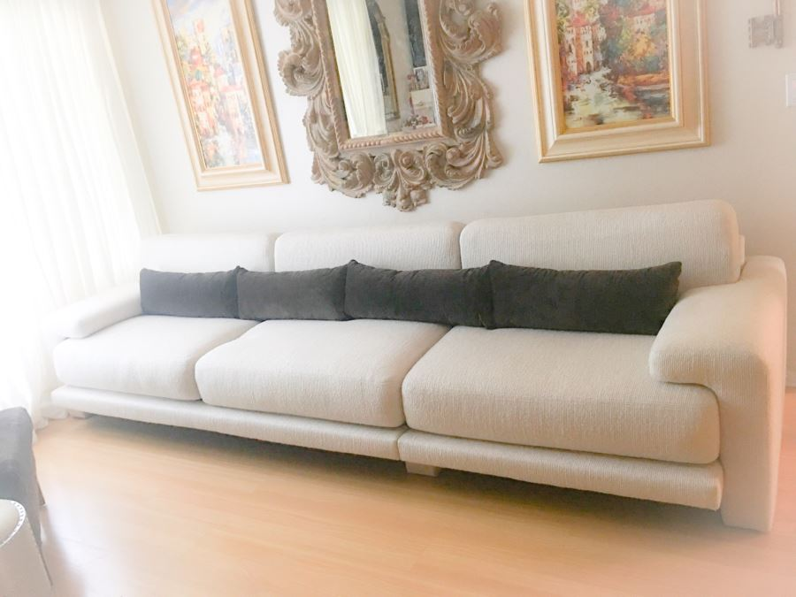 "Two-Piece Modern Sofa By Preview Furniture Corporation 10.5' L X 40""D [Photo 1]"