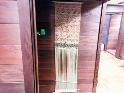 Luchetik Woven Textile Wall Hanging From Highland Chiapas Mexico With Book