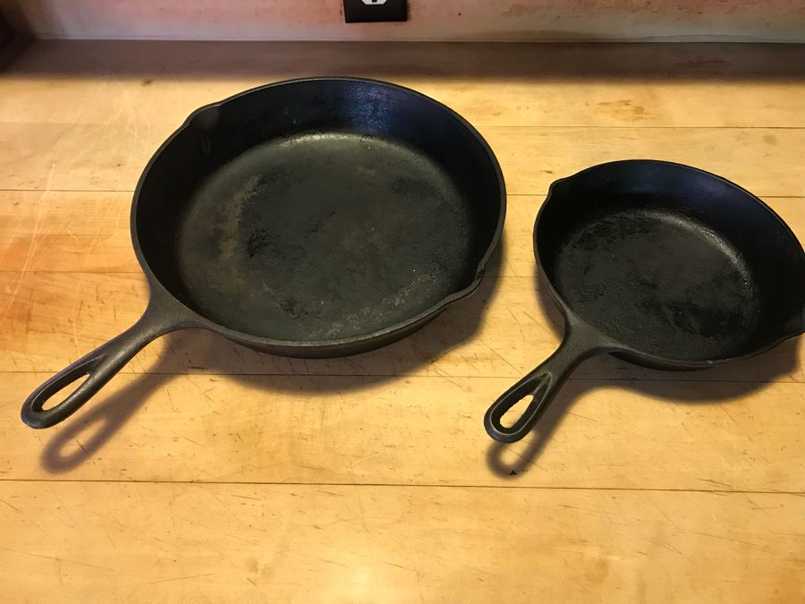 Pair Of Lodge Cast Iron Skillets [Photo 1]