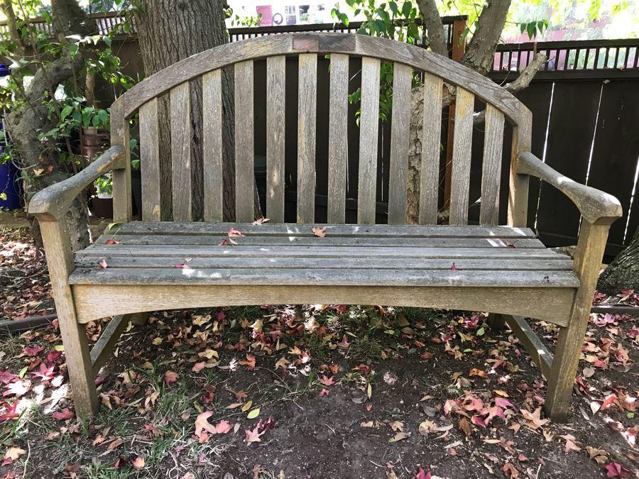 Nice Outdoor Teak Wooden Bench [Photo 1]
