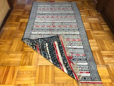 Vintage Hand Knotted Wool Rug With Intricate Geometric Patterns 6' 8' X 3' 7'