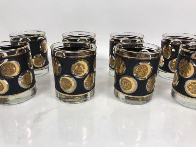 (8) Vintage Mid-Century Barware Glasses
