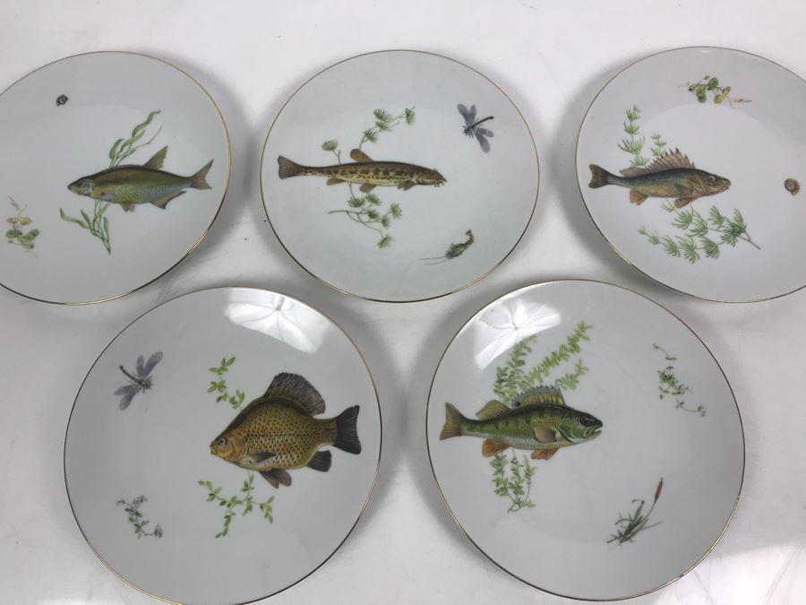 Set Of (5) Bareuther Waldsassen Bavaria-Germany Fish Plates [Photo 1]