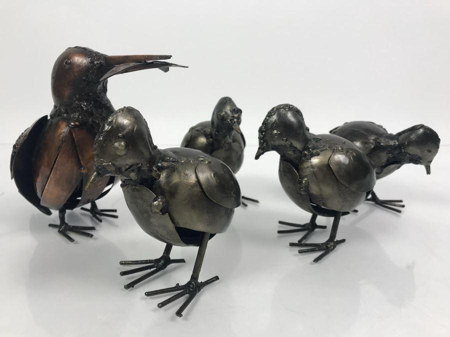 Set Of (5) Metal Sculpture Birds [Photo 1]