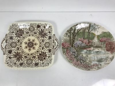 Vintage China - English Gardens Johnson Bros Plate And Mason's England Serving Tray
