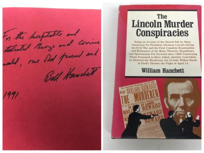 Signed Book The Lincoln Murder Conspiracies Signed By William Hanchett
