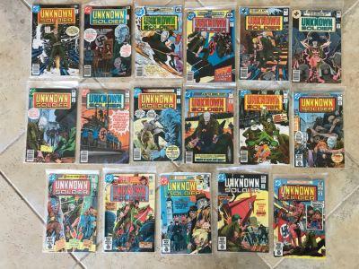 (17) Vintage DC Comics The Unknown Soldier Comic Books