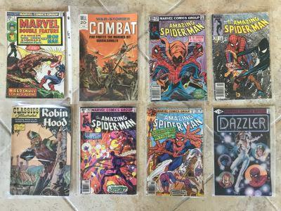 (8) Vintage Comic Books Featuring Marvel The Amazing Spider-Man #238, #258, #203, #186, Dazzler #1