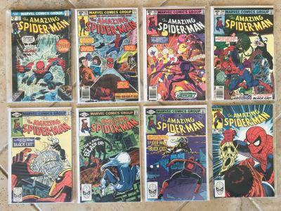 (8) Vintage Marvel The Amazing Spider-Man Comic Books: #151, #195, #203, #204, #205, #226, #227, #245