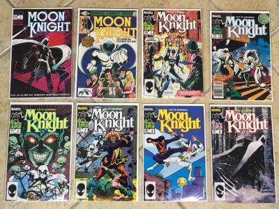 (8) Marvel Comics Moon Knight Comic Books Incl Issue #1