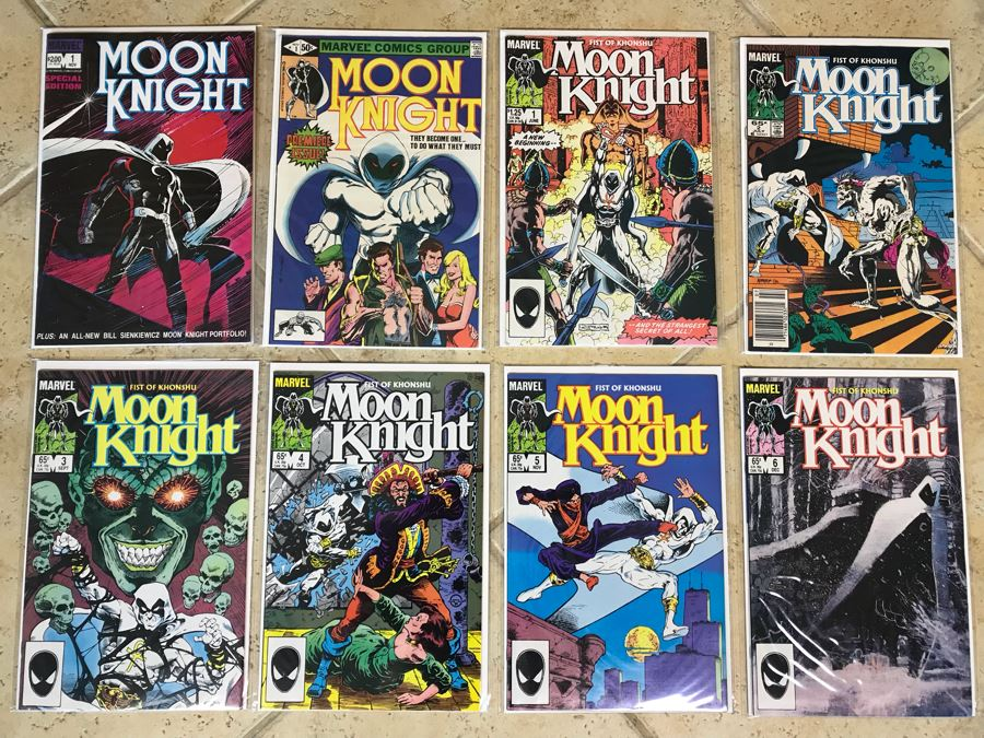 (8) Marvel Comics Moon Knight Comic Books Incl Issue #1 [Photo 1]