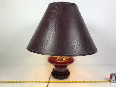 Pottery Table Lamp With Shade
