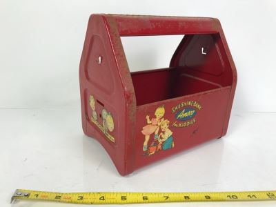 Vintage Red Metal Kid's Toy Shu-Shine-Bank Amsco For Kiddies